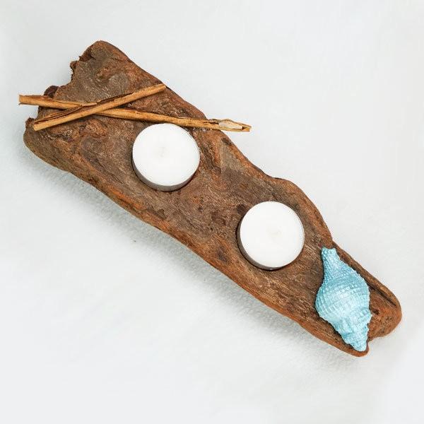 bougeoir-bois-flotté-deux-bougies-coquillage-bleu-turquoise-artisanat-français-aude-minervois-hérault-languedoc-roussillon-4