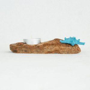 bougeoir-bois-flotté-une-bougie-étoile-de-mer-bleu-artisanat-français-aude-minervois-hérault-languedoc-roussillon-3