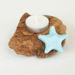 bougeoir-bois-flotté-une-bougie-étoile-de-mer-bleu-turquoise-artisanat-français-aude-minervois-hérault-languedoc-roussillon-2
