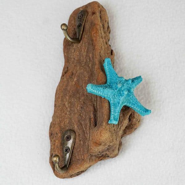 patère-bois-flotté-étoile-de-mer-bleue-porte-clés-porte-bijoux-artisanat-français-aude-minervois-hérault-3