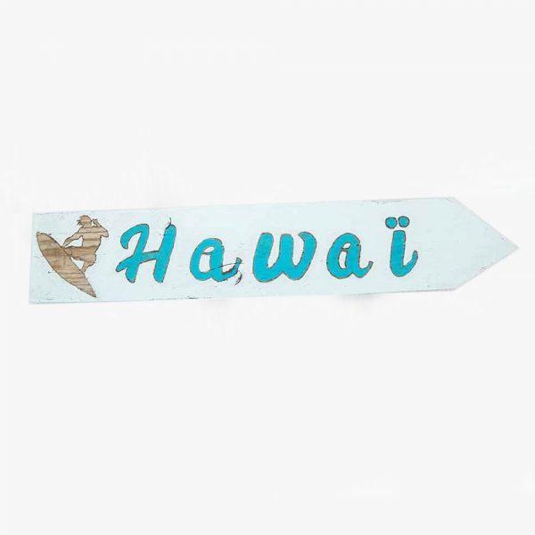 panneau-directionnel-vacances-hawai-deco-fait-main-artisanat-français