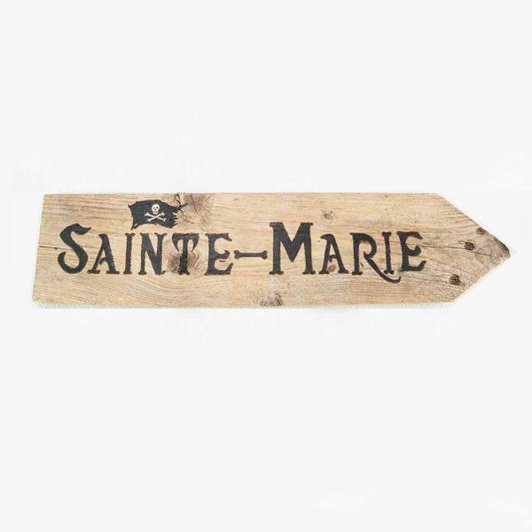 panneau-directionnel-vacances-sainte-marie-deco-fait-main-artisanat-français