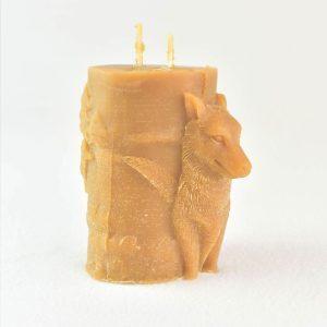 bougie-cire-dabeille-deco-loup-artisanat-français