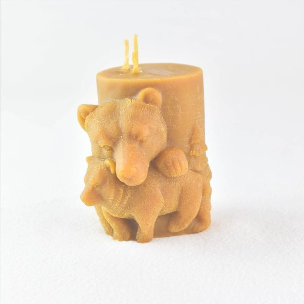 bougie-cire-dabeille-deco-ours-ourson-artisanat-de-france