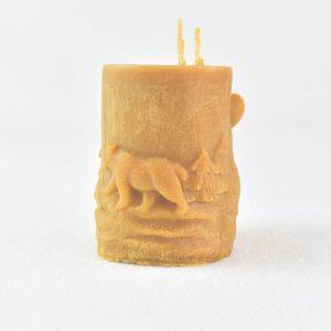 bougie-cire-dabeille-deco-ours-ourson-artisanat-français