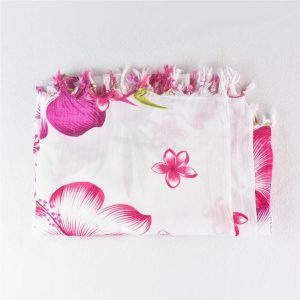 pareo-hibiscus-fleur-rose-artisanat-de-Madagascar
