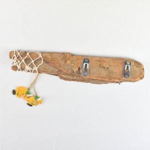patère-porte-clés-serviettes-porte-bijoux-déco-naturelle-bois-flotté-poisson-filet-de-pêche-artisanat-français