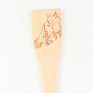 renard-pyrogravé-spatule-ustensile-de-cuisine-cadeau-original-artisanat-français