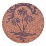 dessous-de-plat-ile-tropicale-palmier-caraibes-soleil-ocean-mer-pyrogravure-personnalisee-artisanat-local