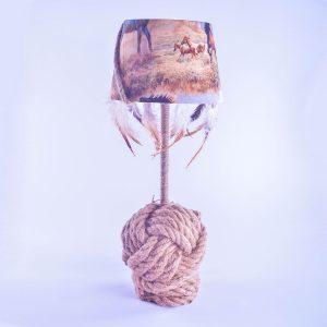 lampe-cheval-plume-corde-artisanat-de-france