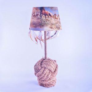lampe-unique-corde-cheval-fait-main
