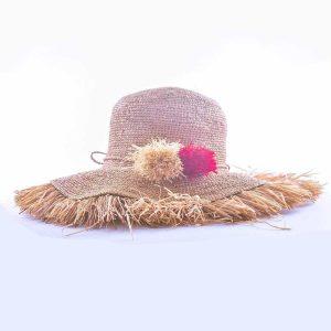 chapeau-froufrou-pompon-ete-femme-fait-main-raphia-madagascar