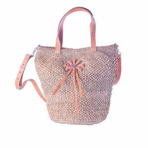 sac-boule-raphia-couleur-the-anse-epaule-fleur-cuir-artisanat-madagascar