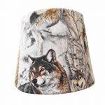 abat-jour loup lampe de chevet
