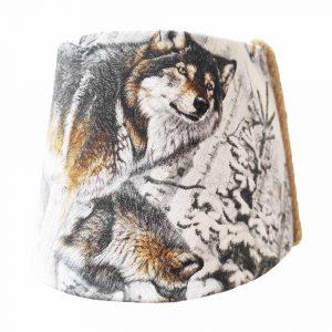 abat-jour loups dans la neige pour lampe de chevet