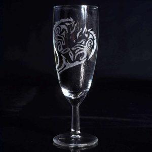 verre-a-champagne-flute-loup-renard-style-tribal-artisanat-francais-2