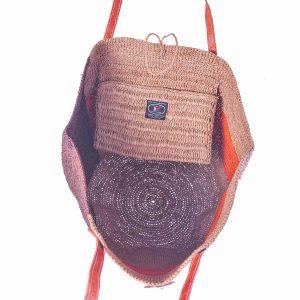 sac-boule-raphia-couleur-naturelle-cannelle-orange-sans-couture-anse-cuir-artisanat-madagascar